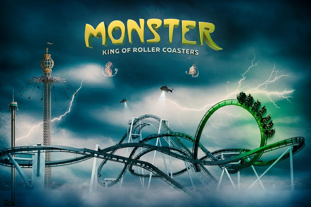 Gröna Lunds nya berg- och dalbana Monster är här!